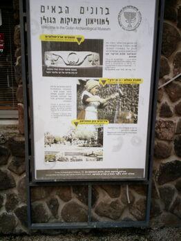 שלט כניסה מוזיאון קצרין