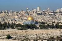 Jerusalem Dome of the rock BW 14