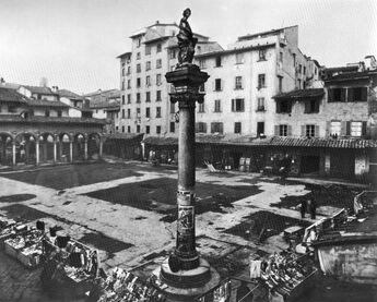 Repubblica square in 1883 28 colonna dell 27abbondanza 29
