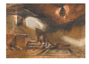 הריצוף המקורי של המערה מתחת למסגד הר הסלע.PNG