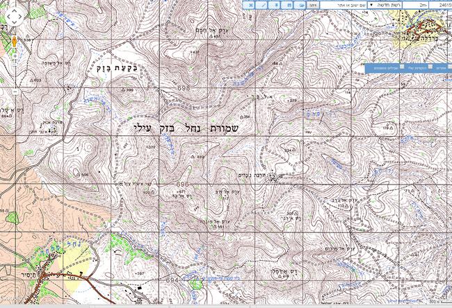 מפת האזור מברדלה עד תיסיר המקור - עמוד ענן - מחלקת המדידות הממשלתית.png