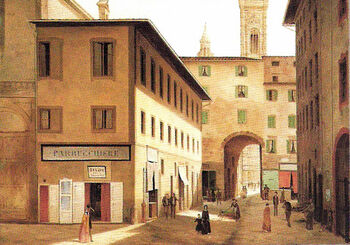 View of Ancient Florence by Fabio Borbottoni 1820-1902 (51)