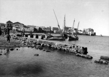 ACRE, ON THE BAY OF ACRE. First World War, 1914-1918. J06224
