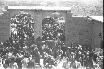 THE LAG BA'OMER HOLIDAY, CELEBRATED AT THE TOMB OF RABBI SHIMON BAR YOHAI ON MOUNT MERON IN THE UPPER GALILEE. חגיגות ל ג בעומר ליד קברו של רבי שמעו