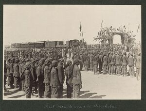First train to arrive in Beersheba, 1917