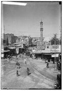 Minimum gauge railway train Yafo streets 1920 2