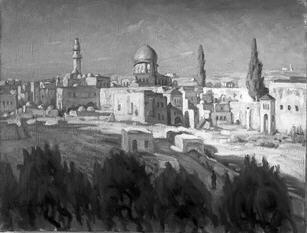 ירושלים - ירושלים רפרודיקציה מציורו של נימן.-JNF043808