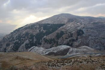המדרון הצפוני של הר כביר היורד לעמק תרצה