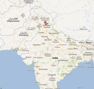 Bhagsu naag village map