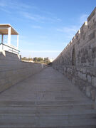 Eastern wall of temple mount Yaakov Shoham