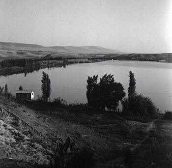 נהריים - בריכת הירדן שסודרה בשביל מפעלי רוטנברג-JNF021644