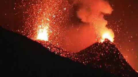 Eruption of Etna Volcano December 2006