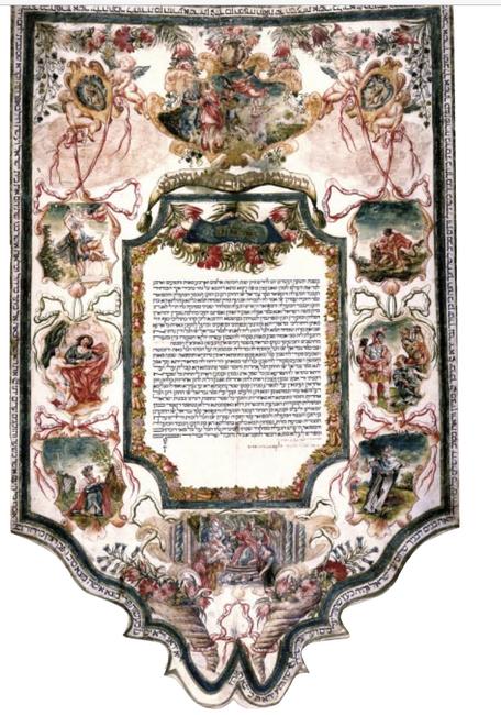 Ketubbà Ambron - Di Segni, Roma 1734