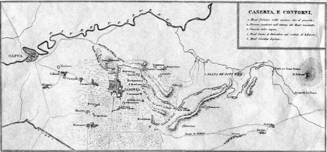 ' 800 - ITALY - 1826 Caserta territory - Naples Kingdom (regno di Napoli) Aqueduct Vanvitelli maps.jpg