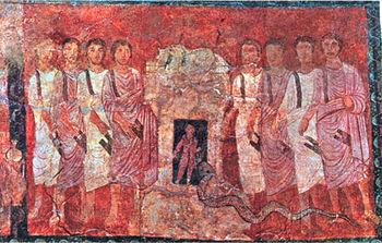 Elijah challenging the prophets of Baal
