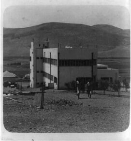 Ein Harod, childrens' home - Mts. of Gilboa in backgrd