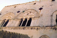 An ancient palace Star of David in his window