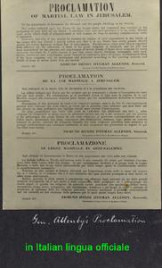 Proclamazione di legge marziale in agaerudalemme