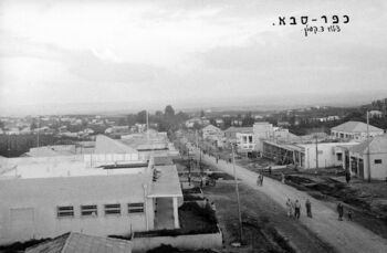 GENERAL VIEW OF KFAR SABA. מראה כללי של הישוב כפר סבא.D703-132 - 1930