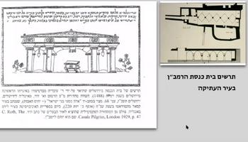 תרשים בית הכנסת העתיק של ברטנורא