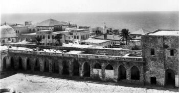A view of Acre and the coast. First World War, 1914-1918. B02195