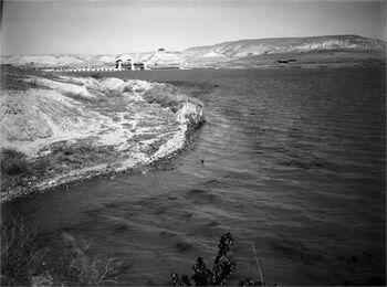 נהרים - מפעל רוטנברג, הבריכה המלאכותית.-JNF044515