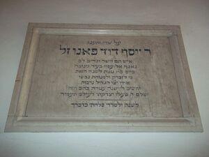 Remember of rabbino fano