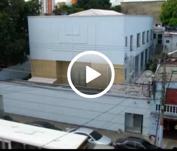 בית הכנסת במנאום צולם מהמסך