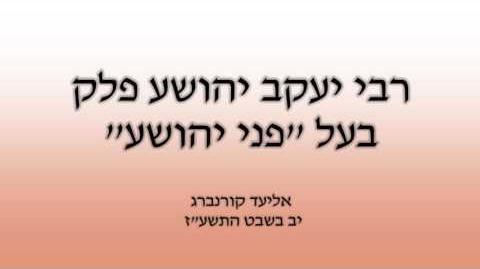 הרב יעקב יהושע פַלְק