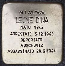 Stolperstein für Leone Dina