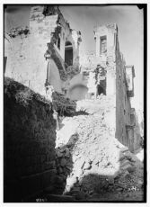 The earthquake of July 11, 1927. A house in Nablus reduced to a mere shell by the earthquake