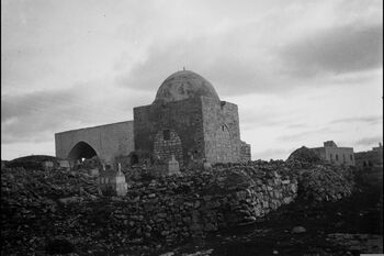 RACHEL'S TOMB ON THE OUTSKIRTS OF BETHLEHEM. מקומות קדושים. קבר רחל ליד בית לחם.D269-089