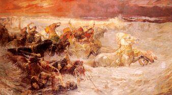 1Bridgman Pharaoh's Army Engulfed by the Red Sea