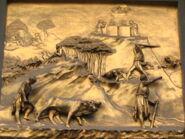 Detalle en Puerta ParaADs2C Baptisterio de San Giovani 2C Florencia