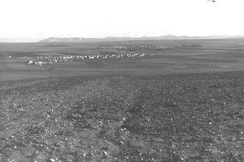 VIEW OF THE JEZREEL VALLEY WITH MOSHAV BEIT SHEARIM AND NAHALAL. נוף של עמק יזרעאל.D29-074