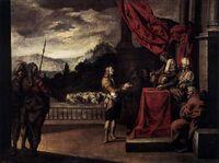 Antonio del Castillo - Joseph Explains the Dream of the Pharaoh - WGA04554