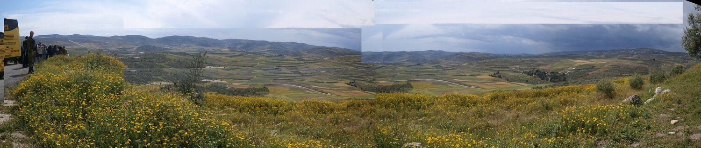 מבט מהעיר שומרון העתיקה למחגת הרכבת, ראשית ההתיישבות היהודית בשומרון