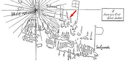 Guanahani en mapa de la Cosa.jpg