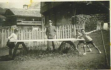 Al campeggio di Cima Sappada - 1937