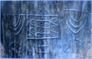 מנורות וארון הקודש מהקטקומבום ברומא
