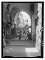 Jerusalem. The Old City. Streets in old city