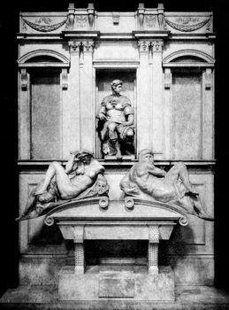 Life of Michael Angelo, 1912 - Tomb of Giulino de Medici