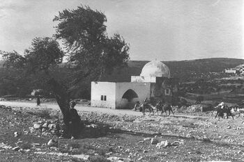 RACHEL'S TOMB ON THE ROAD TO BETHLEHEM FROM JERUSALEM, 1910-1920.