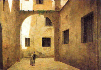 View of Ancient Florence by Fabio Borbottoni 1820-1902 (39)