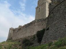 Rocca Maggiore south west wall