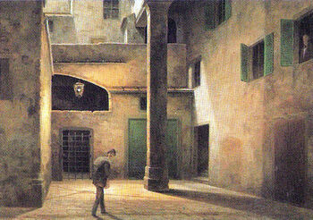 View of Ancient Florence by Fabio Borbottoni 1820-1902 (30)