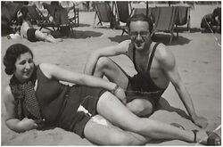 Miriam camerini on the beach