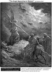 Bible Gustave-Dore-The Angel Appearing To Balaam