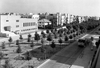 THE BILU SCHOOL ON ROTHSCHILD BLVD. IN TEL AVIV. שדרות רוטשילד בתל אביב.D403-034