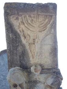 Ostia Antica Synagogue Menora